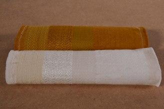 Réalisation de surteinture pour dévoiler le tissage par la couleur, selon l'armure et les fibres (Dylon Gold).